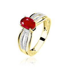 Bague Sinea Or Jaune Rubis Diamant