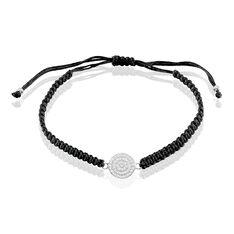 Bracelet Argent Jeton Oxyde
