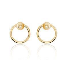 Bijoux D'Oreilles Plaque Or Jaune Cercle - Boucles d'oreilles Ear cuffs Femme   Marc Orian