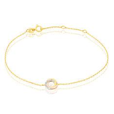 Bracelet Tiara Or Tricolore Et Diamants