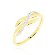 Bague Ester Or Jaune Vague Diamants