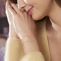 Bracelet Maria Or Blanc Et Diamant