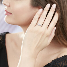 Bague Solitaire Or Blanc Fathima Oxyde