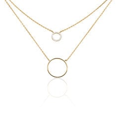 Collier Marina Plaque Or Cercles