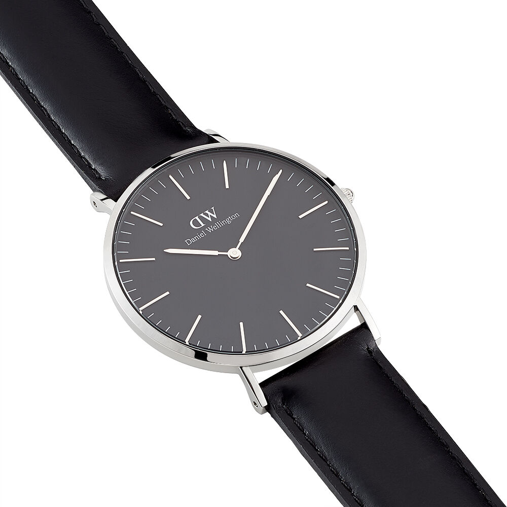 bracelet cuir noir daniel wellington