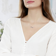 Collier Irene Or Blanc Et Diamant