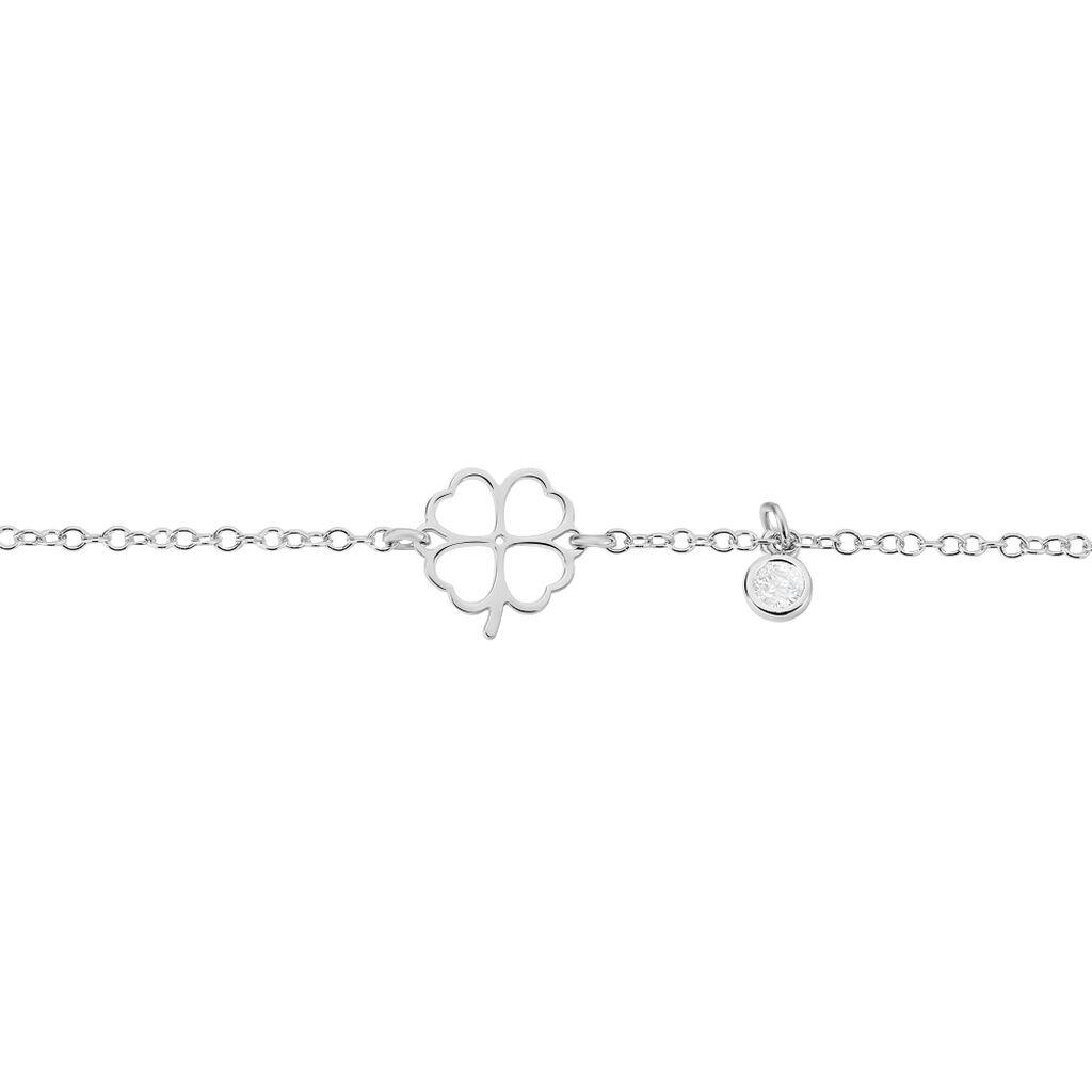 Bracelet Argent Rhodie Trefle Spirit - Bracelets chaînes Femme   Marc Orian