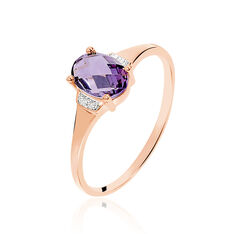 Bague Mathilde Or Rose Amethyste
