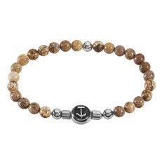 Bracelet Acier Elastique Boules Pierres Ancre - Bracelets chaînes Homme | Marc Orian