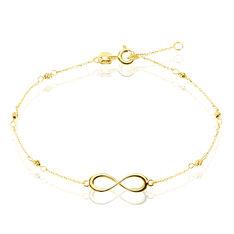 Bracelet Or Jaune Et Spinelle