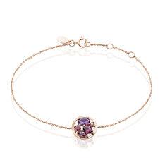 Bracelet Naoelle Or Rose Amethyste