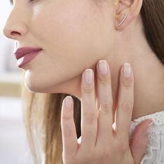Bijoux D'Oreilles Or Blanc Eleana