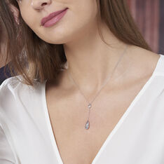 Collier Or Blanc Topaze