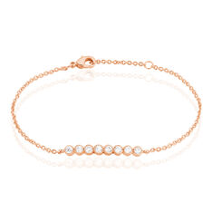 Bracelet Plaque Or Rose Aelis