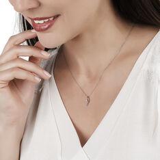 Collier Vague Or Blanc Et Diamants 42cm