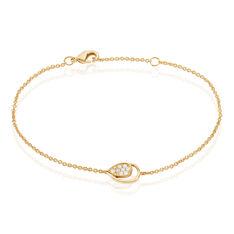 Bracelet Plaque Or Et Oxyde