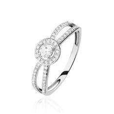 Bague Leila Or Blanc Et Diamants