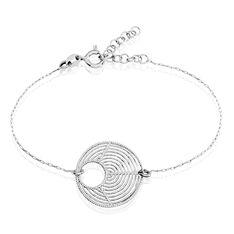 Bracelet Argent Rhodie Lune
