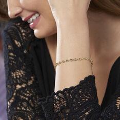 Bracelet Or Jaune Grain De Cafe