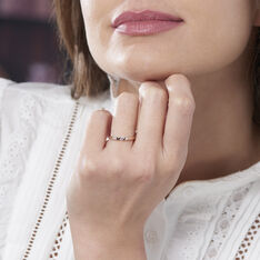 Bague Solitaire Anilie Or Rose Diamant