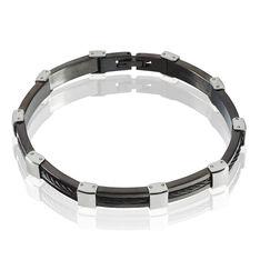 Bracelet Acier Alterne Carbone Cable - Bracelets chaînes Homme | Marc Orian