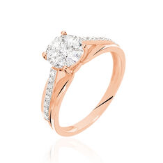 Bague Kate Or Rose Diamants