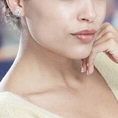 Boucles D'Oreilles Or Blanc Allassane Formes Flocons - Clous d'oreilles Femme | Marc Orian