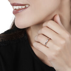 Bague Solitaire Alexandra Or Rose