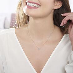 Collier Or Blanc Dimitra C?Ur Diamants