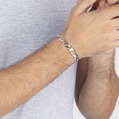 Bracelet Argent Maille Alternee