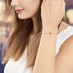 Bracelet Argent Dore Attrape Reve Ambre