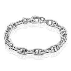 Bracelet Argent Rhodie Maille Marine - Bracelets chaînes Femme | Marc Orian