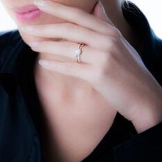 Bague Solitaire Or Bicolore Diamant