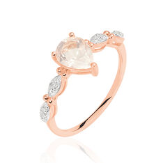 Bague Or Rose Dentelle Quartz Rose