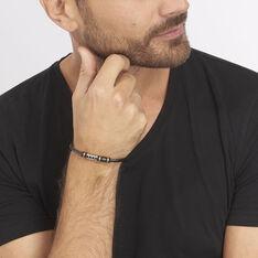 Bracelet Acier Cable Noir