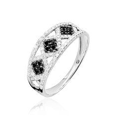 Bague Or Blanc Lexie Losanges Diamants