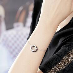 Bracelet Lila Argent  Et Ceramique
