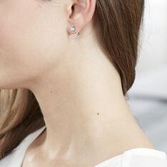 Bijoux D'Oreilles Marlene Or Blanc