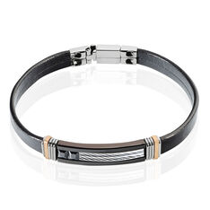 Bracelet Acier Et Pierre