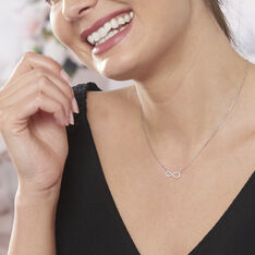 Collier Argent Infini Oxyde - Colliers Femme   Marc Orian
