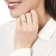 Bague Fany Or Blanc  Topaze