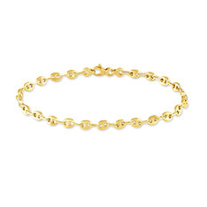 Bracelet Or Jaune Maille Grain De Cafe - Bracelets mailles Femme | Marc Orian