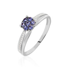 Bague Or Blanc Kate Iolite Oxydes