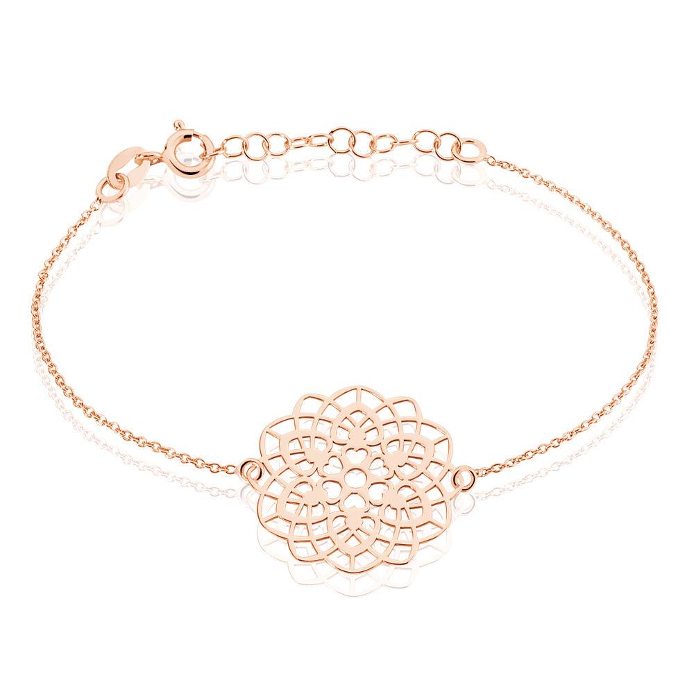 bracelet argent rose