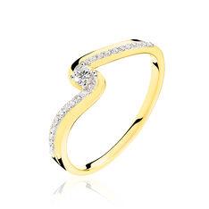 Bague Or Jaune Diamant 3 Rangs Ajoures