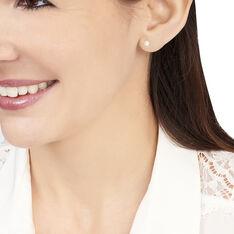 Boucles D'Oreilles Or Jaune Et Perles