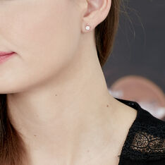 Boucles D'Oreilles Kate Or Blanc