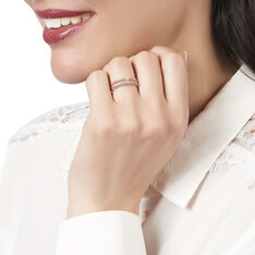 Bague Ane Or Rose Pavage Oxydes