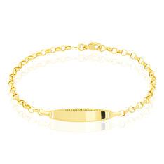 Bracelet Identite Bebe Or Jaune Marcel