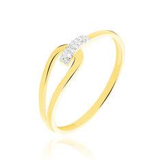 Bague Leila Or Jaune Et Diamant - Parure de mariage Femme | Marc Orian